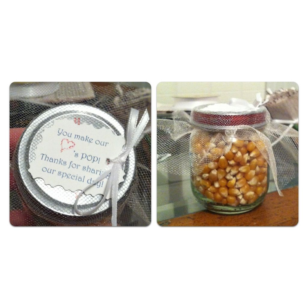 Wedding party favors! -Baby food jars / could use sunflower seeds ...