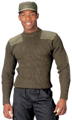 Wool Commando Sweater Military I like this style