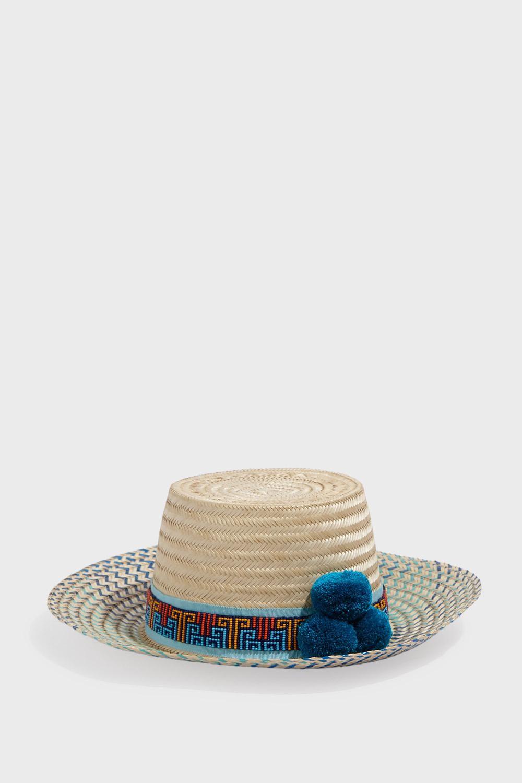 6b0976e8dfb736 YOSUZI BIDIKA POMPOM STRAW HAT. #yosuzi # | Yosuzi | Hats, Hat ...