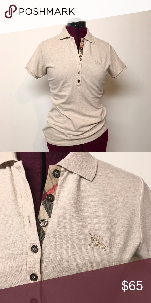 6cbda7d2e Authentic Burberry Polo Shirt Women's M A classic and clean look. It's  longer than the normal polo. (No need to constantly pull it down). My  favorite one!