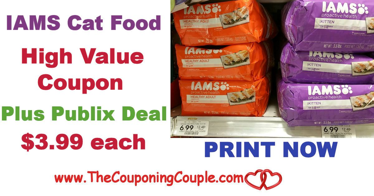 High Value Iams Dry Cat Food Coupon Plus Only 3.99