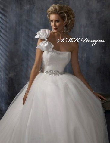 Classic Ballgown Wedding Dress by SMKCoutureBridal on Etsy, $530.00