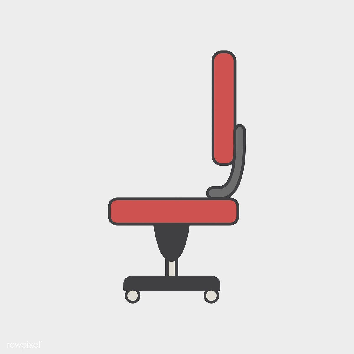 illustration of office chair icon free image by rawpixel com rh pinterest com Office Chair Clip Art Industrial Desk Icon