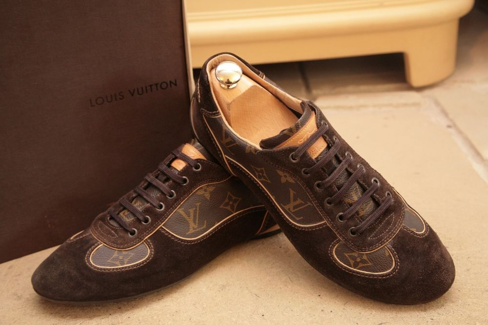 73415d68a5af Louis Vuitton Men s Brown Leather and Suede Trainers Shoes UK 6.5  fashion   clothing  shoes  accessories  mensshoes  athleticshoes (ebay link)