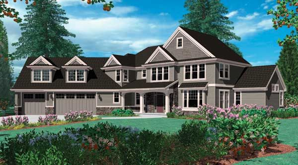 Maryport 2713 4 Bedrooms And 4 Baths The House Designers Porch House Plans Craftsman House Plans Country House Plan