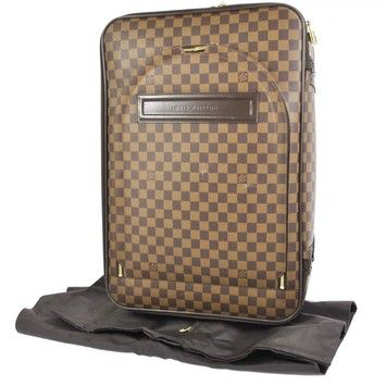 Louis Vuitton 55 Rolling Luggage Carry-on Suitcase On Wheels With Garment +  Lv Lock And Key Damier Ebene Pegase Travel Bag on Sale 701fdeadda1ba
