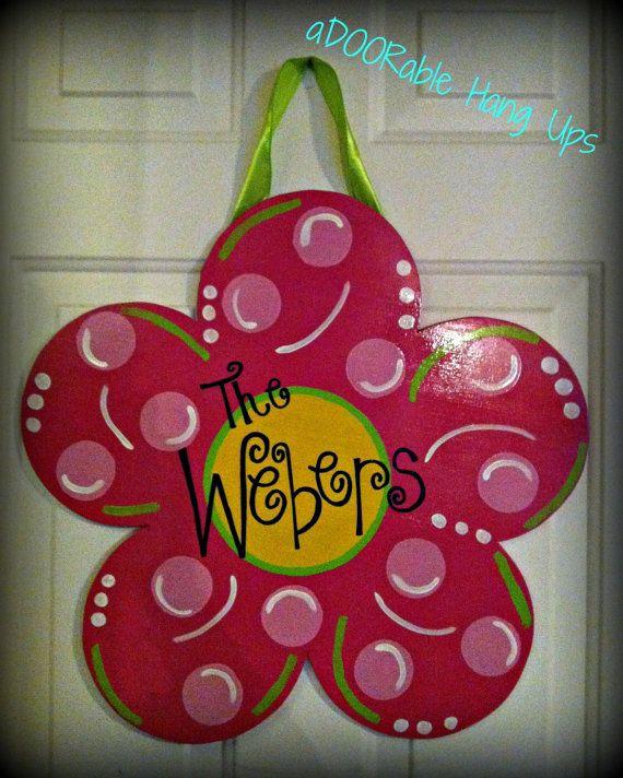 Spring Door Hangers Letters