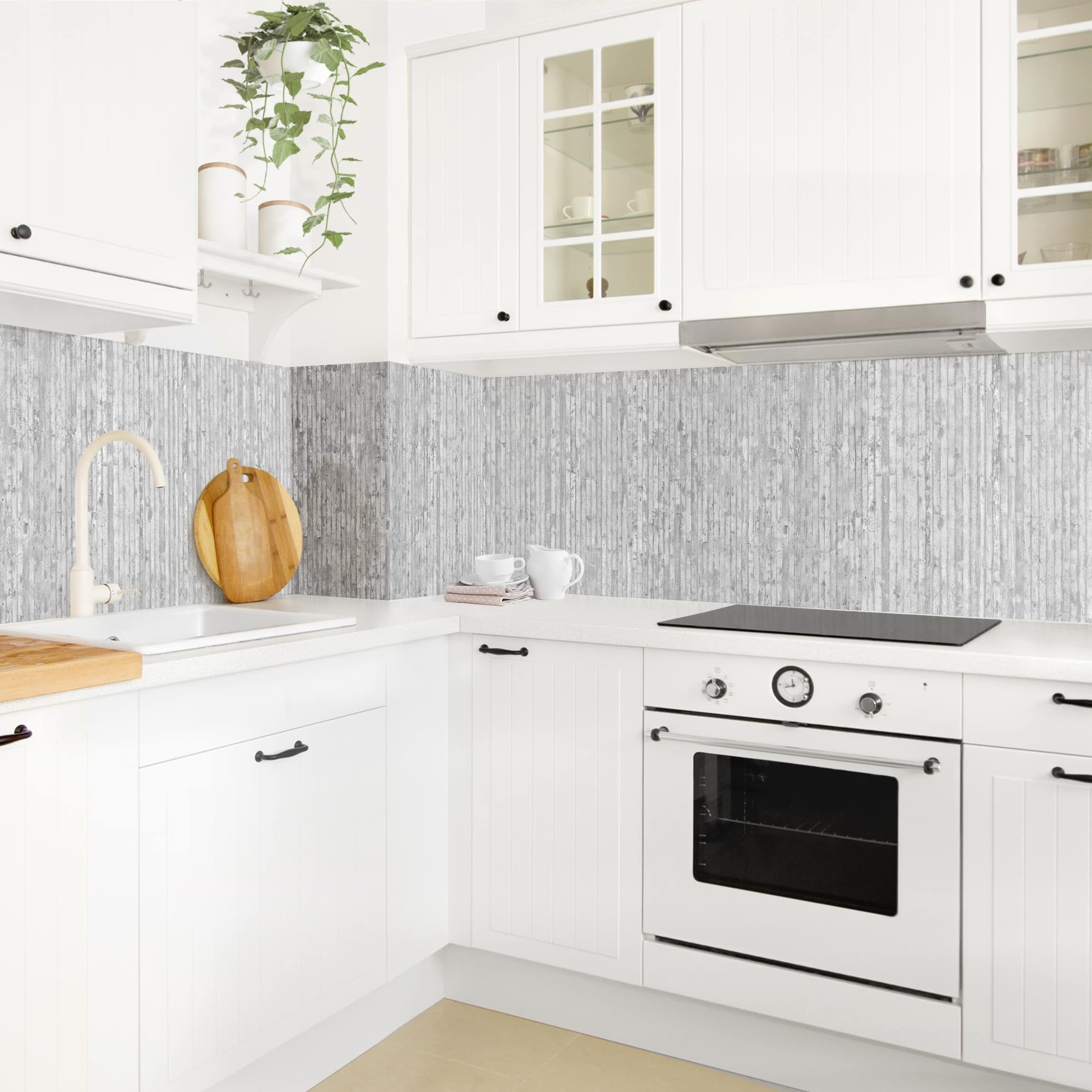 Rivestimento cucina - Effetto cemento strisciato ...