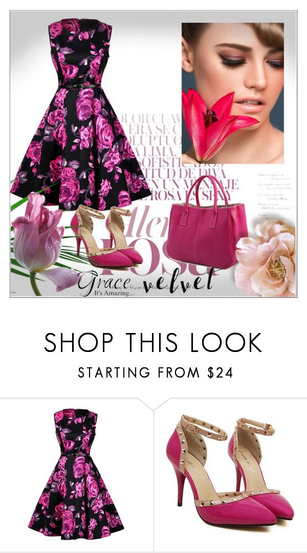 """""""Rosegal 52"""" by denisao ❤ liked on Polyvore featuring vintage"""