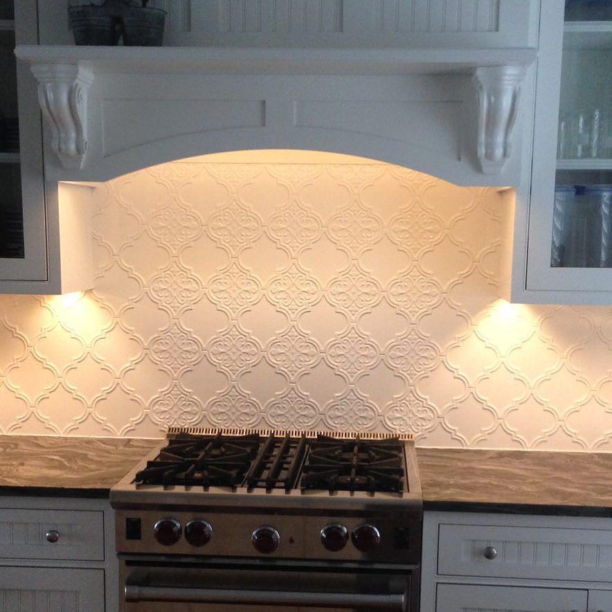 35 Beautiful Kitchen Backsplash Ideas: Beautiful W/ The Combination Of Byzantine Arabesque Bianco