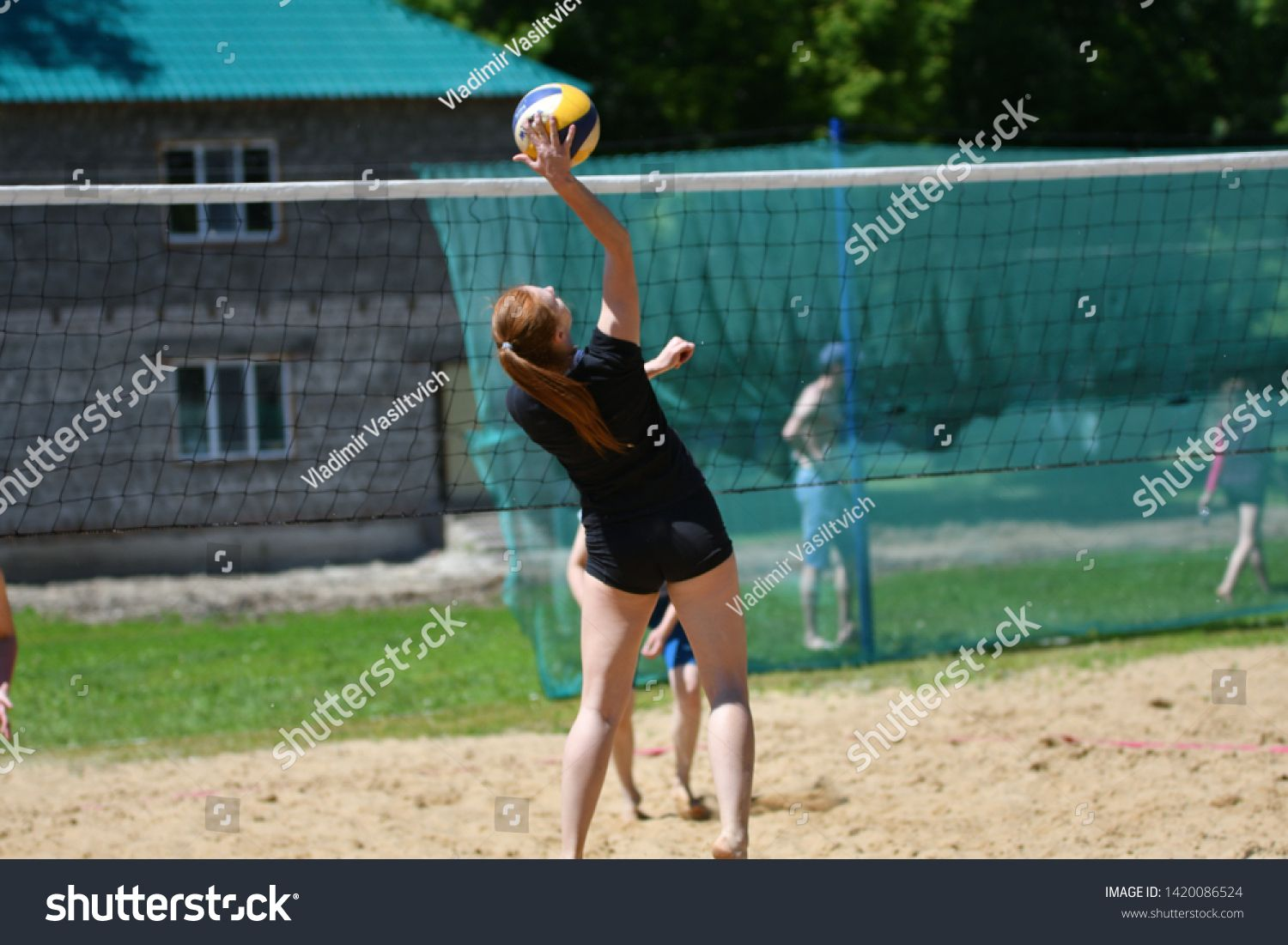 Orenburg Russia 9 10 June 2017 Years The Girl Playing Beach Volleyball In The City Beach Volleyball Tourn In 2020 Volleyball Tournaments Beach Volleyball City Beach
