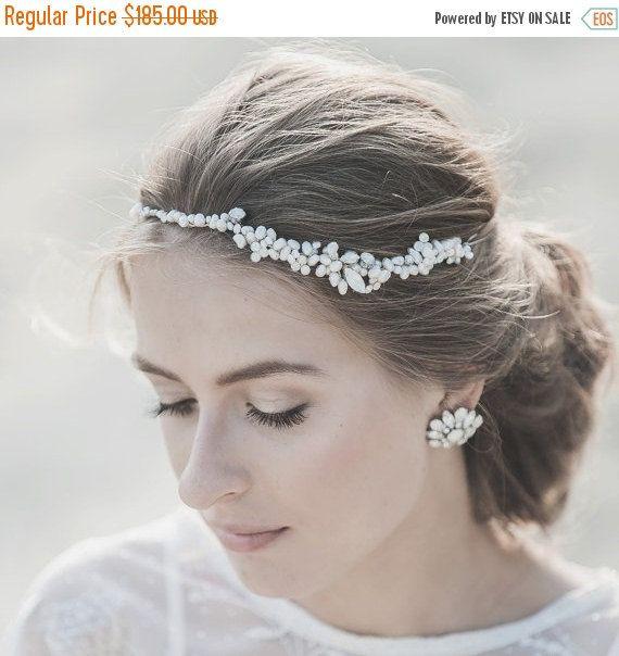 Bridal Headband Wedding Headpiece Wedding by LavenderByJurgita