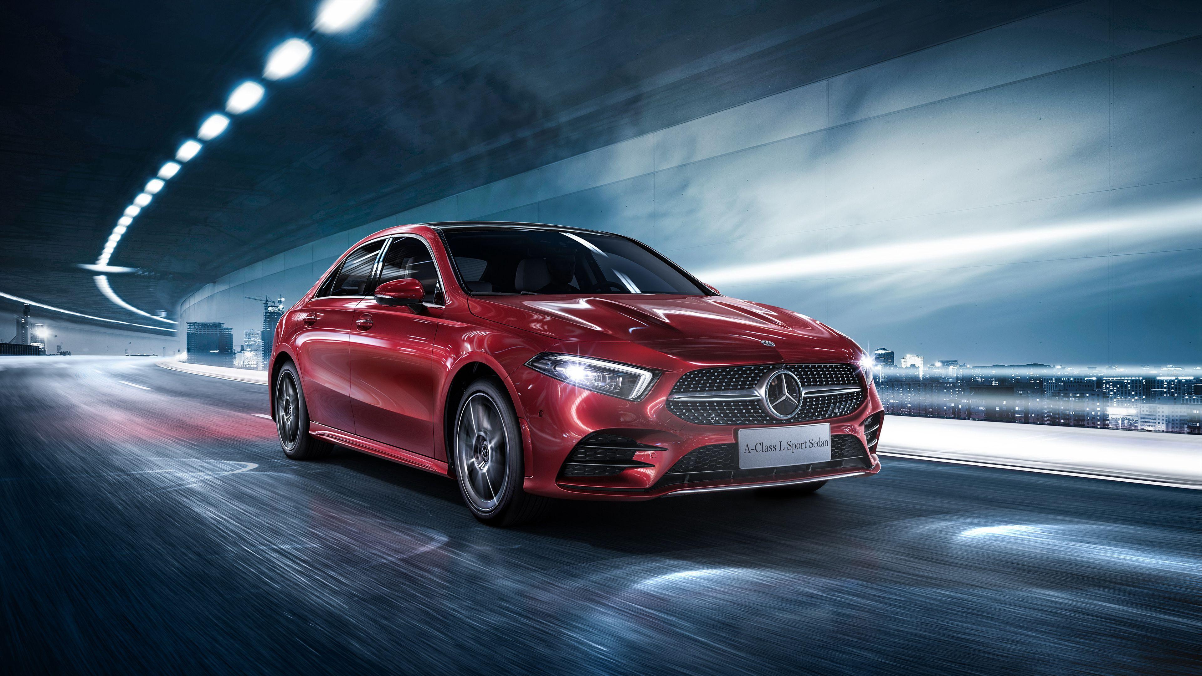 Wallpaper 4k 2018 Mercedes Benz A 200 L Sport Sedan 2018 Cars