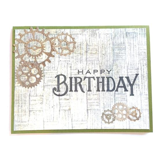 Happy Birthday Steampunk Masculine Gears Guy Card Retirement Engineer For A Man Get Wel