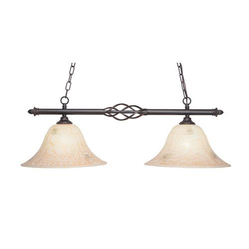 Eleganté Dark Granite TwoLight Island Pendant With Inch Italian - Two light island pendant