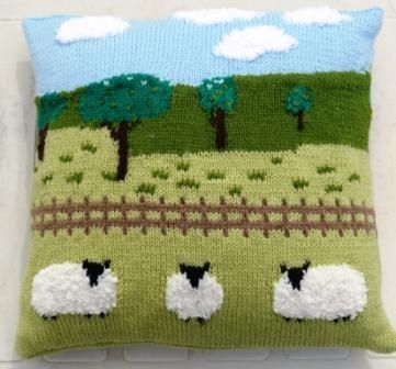 Sheep In The Countryside Cushion Knitting Pattern Misi Uk Buy