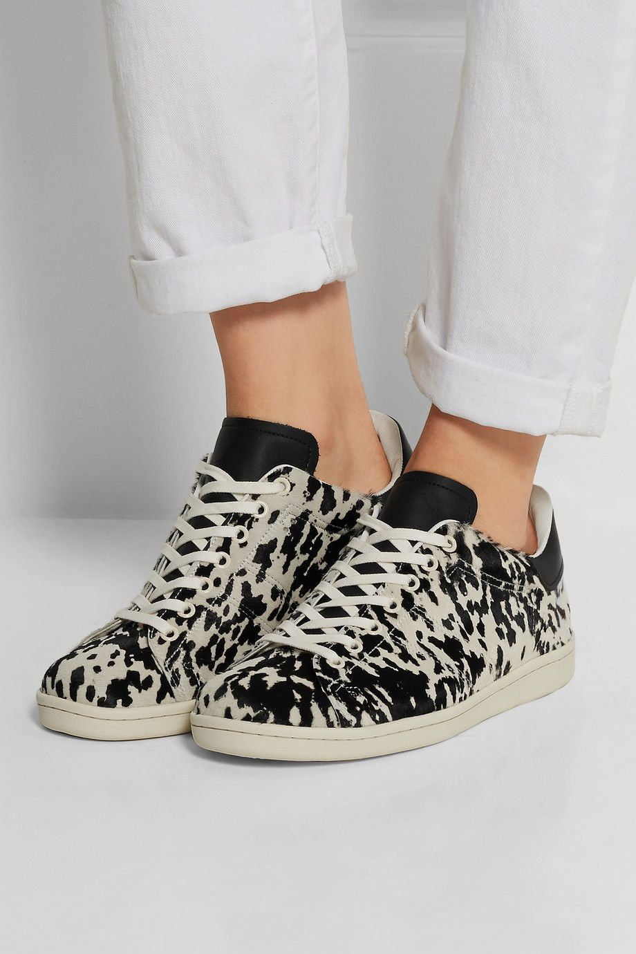 5da179244663 Isabel Marant   Étoile Bart leopard-print calf hair sneakers    NET-A-PORTER.COM