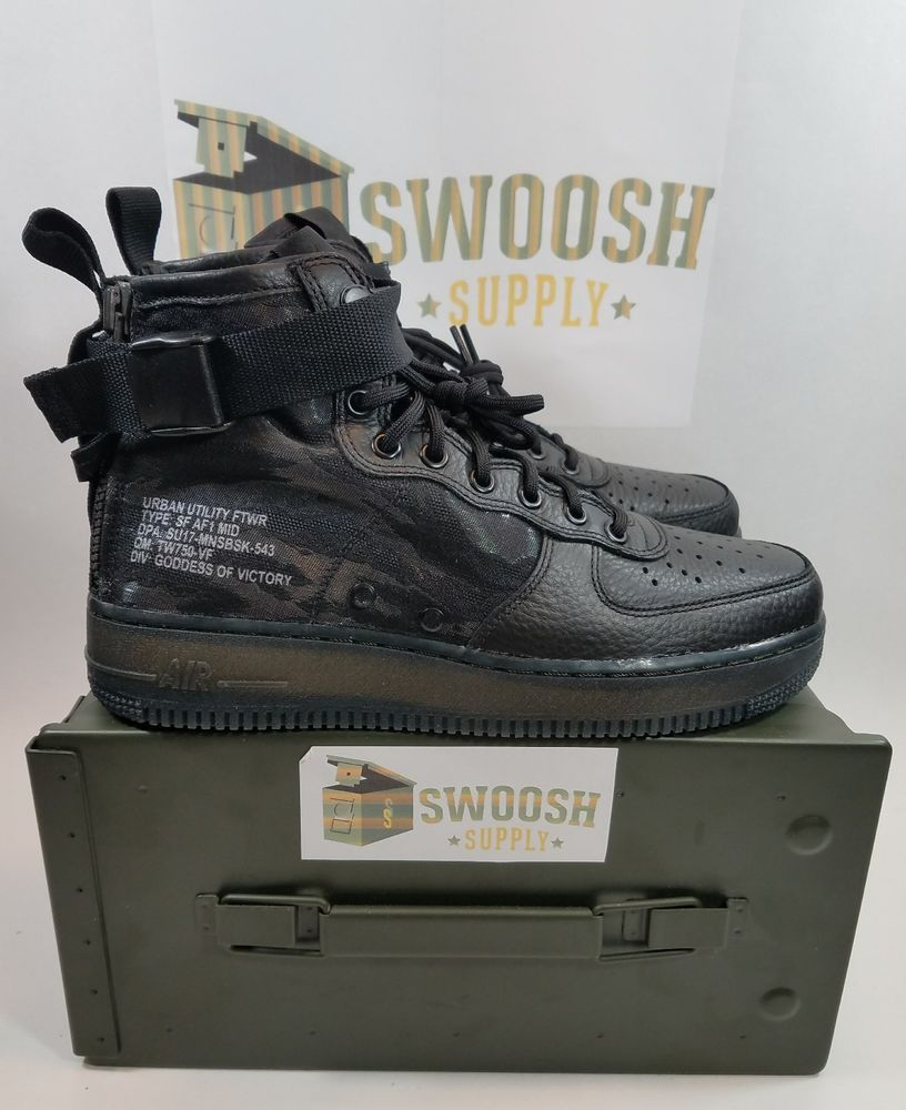 100% authentic 38667 0d4a5 Nike Air Force 1 SF AF1 Mid Urban Utility Black Tiger Camo ...