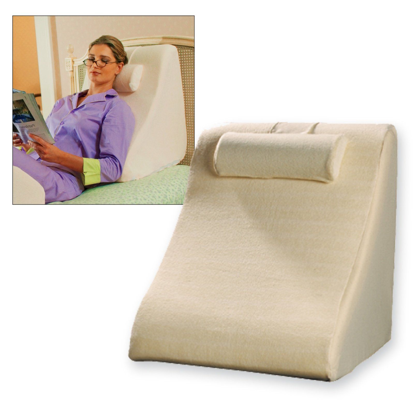 Reading Pillow Bed Jobri Spine Reliever Bed Wedge Sleepy Time Wedge Pillow