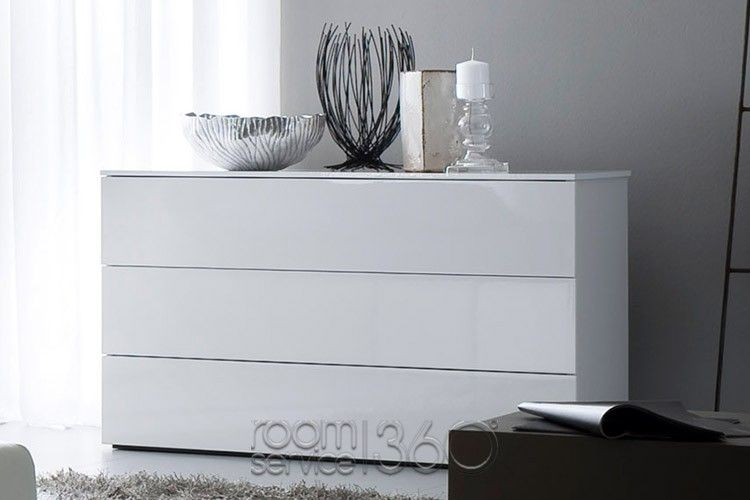 Fun Modern White 4 Drawer Dresser by Rossetto | Furniture ...