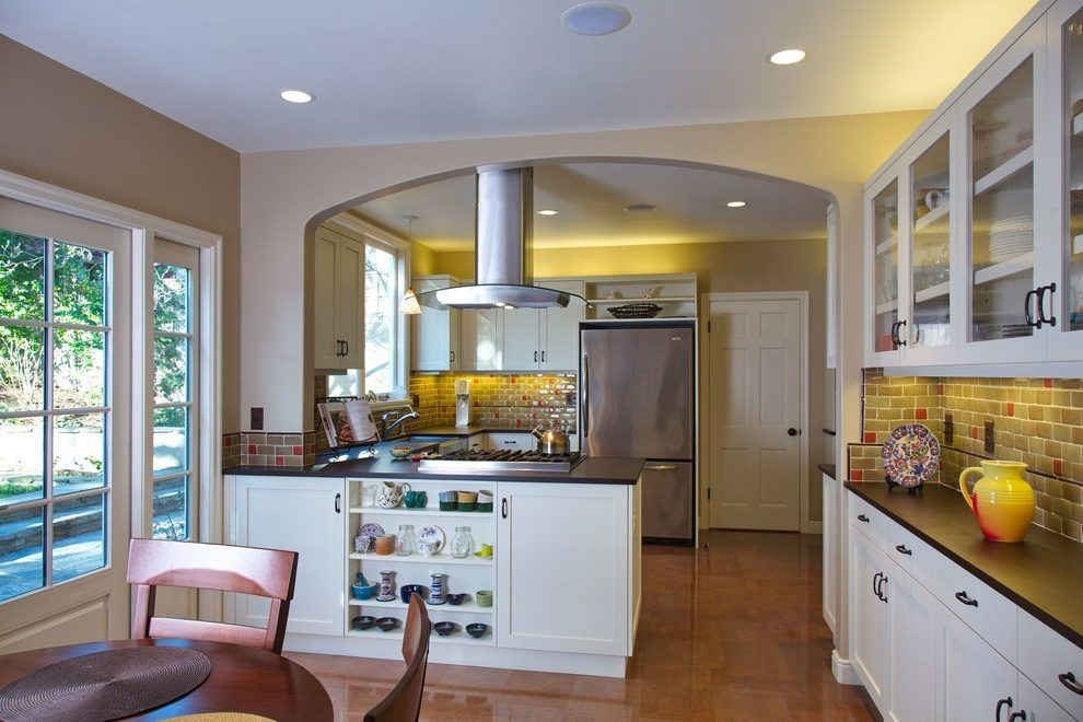 Stove In Peninsula Kitchen Contemporary With Island Hood Quiet