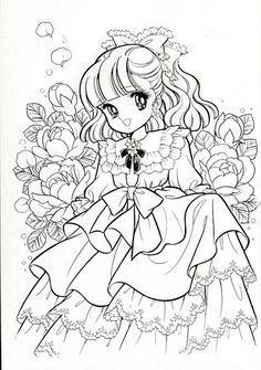 vintage japanese coloring book 7 manga - Japanese Coloring Book