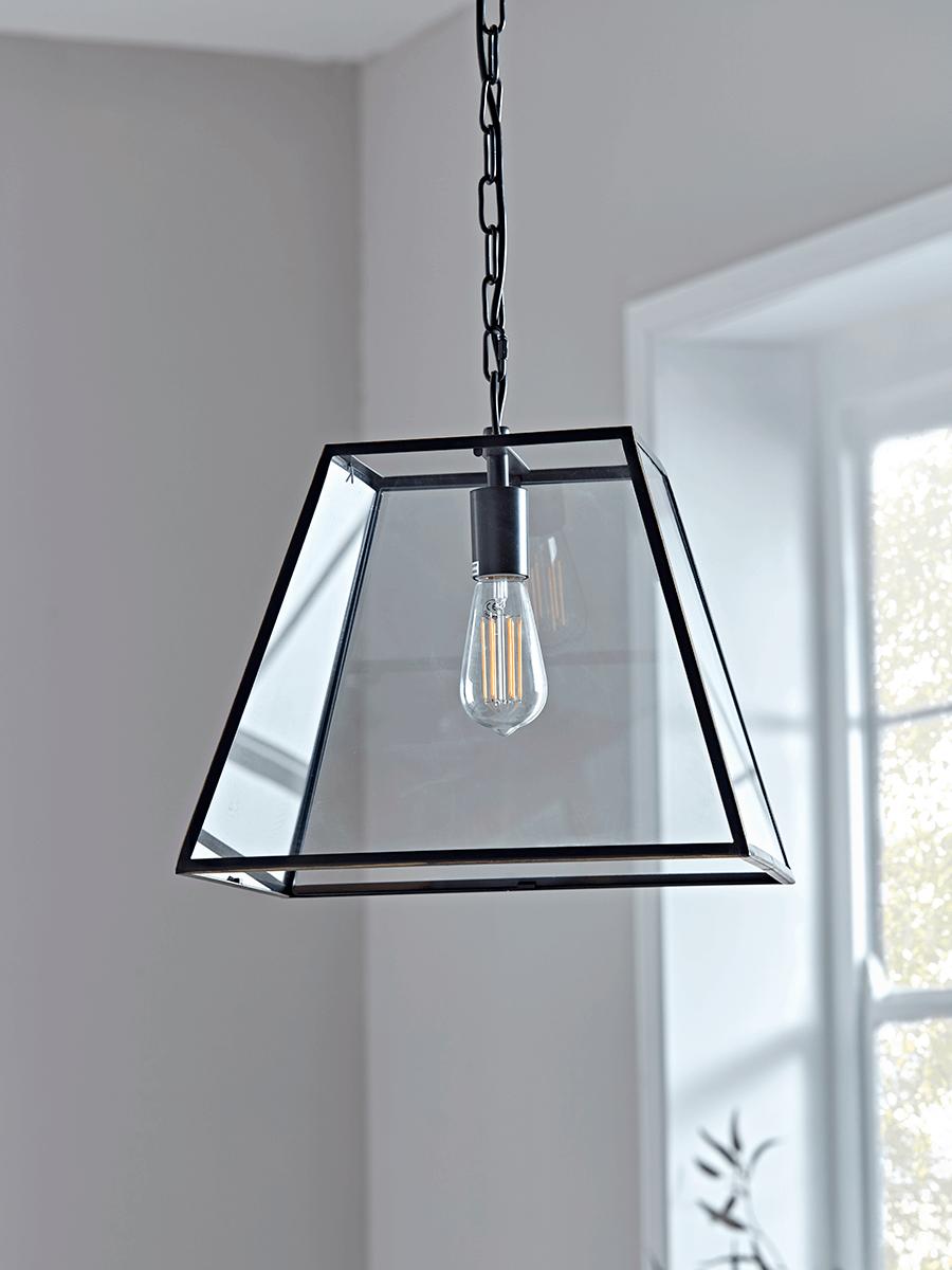 Metal Trapeze Pendant Black Pendant Lighting Ceiling