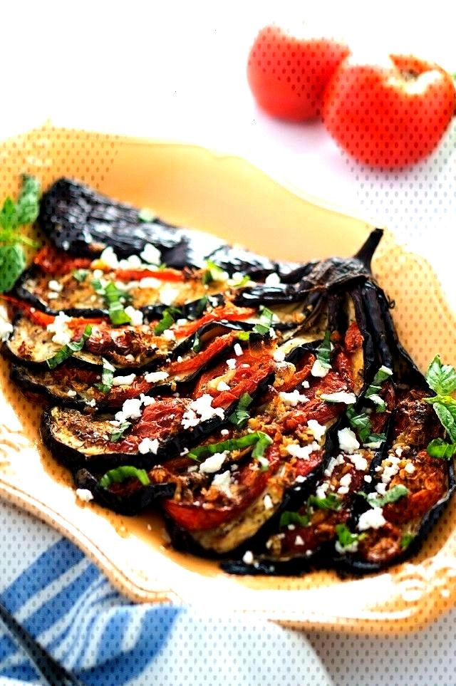 Eggplant Fan - This is a delicious Mediterranean eggplant recipe that tastes amazing and would make