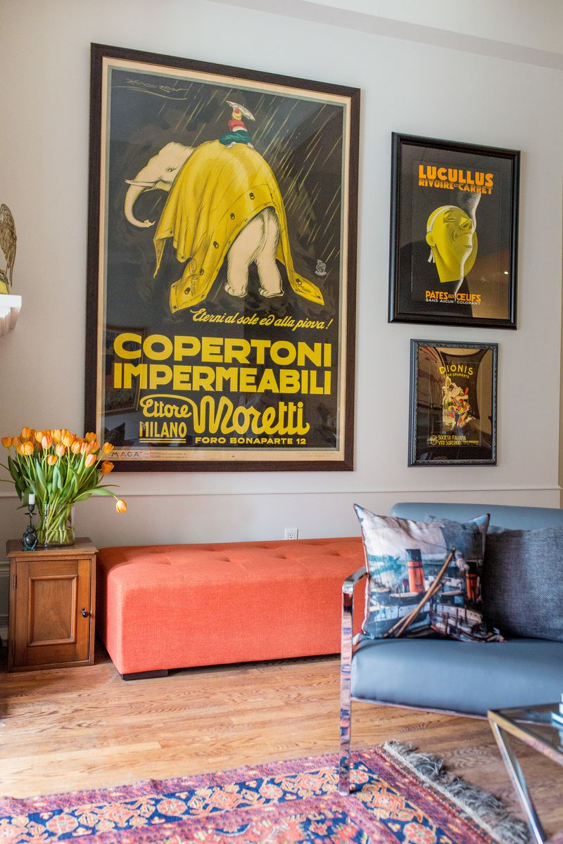 Home Crush A Grown Up Home Full Of Posters Art Deco Posters