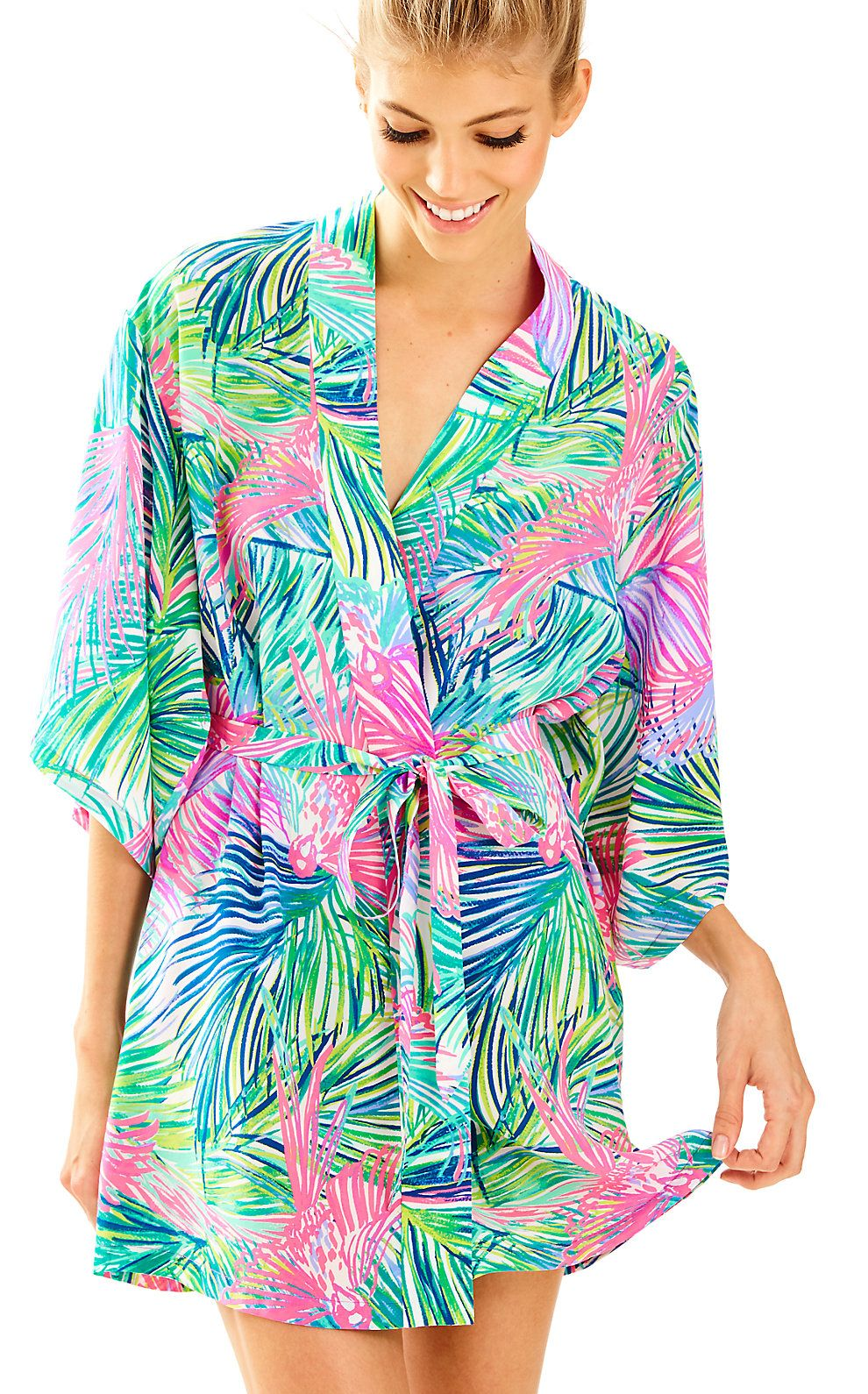 af1291c557d Palm Beach Silk Robe | Products | Robe, Lilly pulitzer, Silk