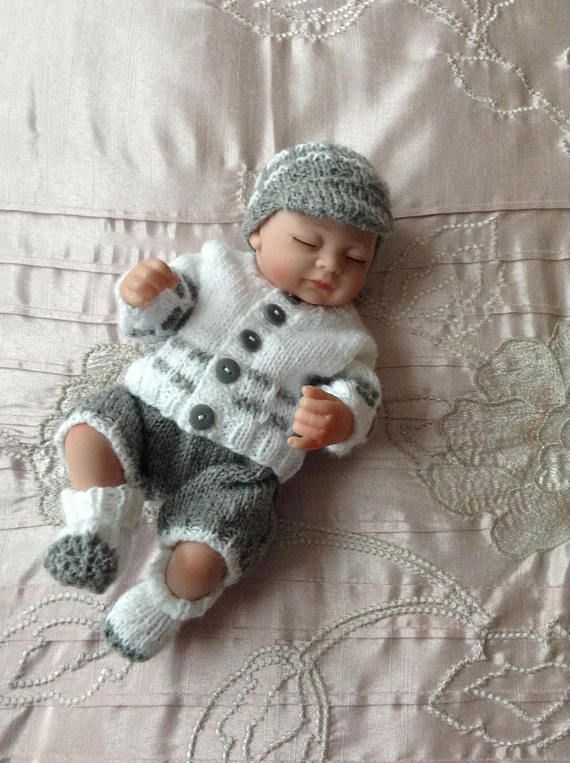 Hand Knitted Dolls Clothes To Fit A 10 Dollreborn Dolls