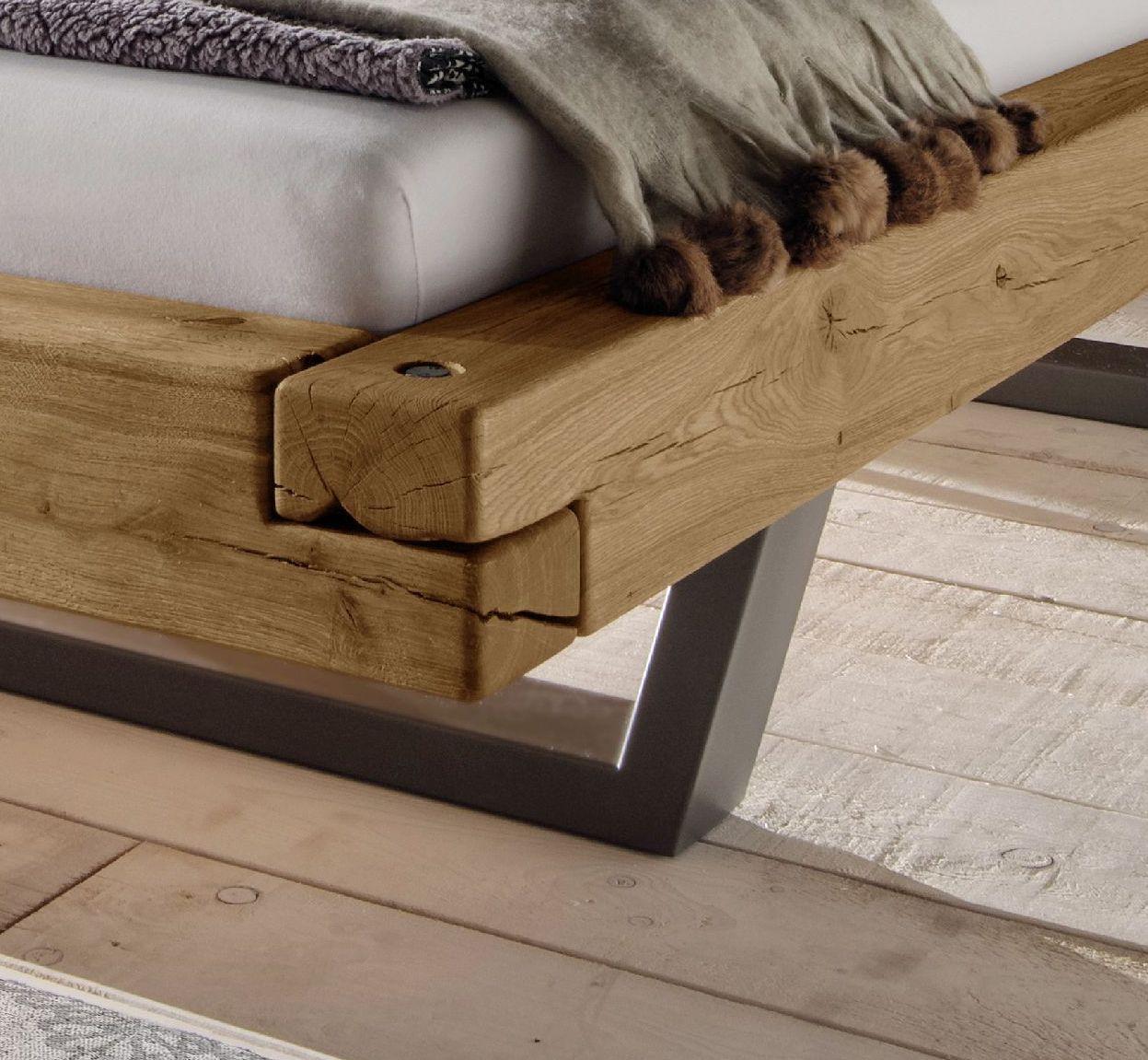 Bett Darica In 2020 Schwebebett Rustikale Schlafzimmermobel