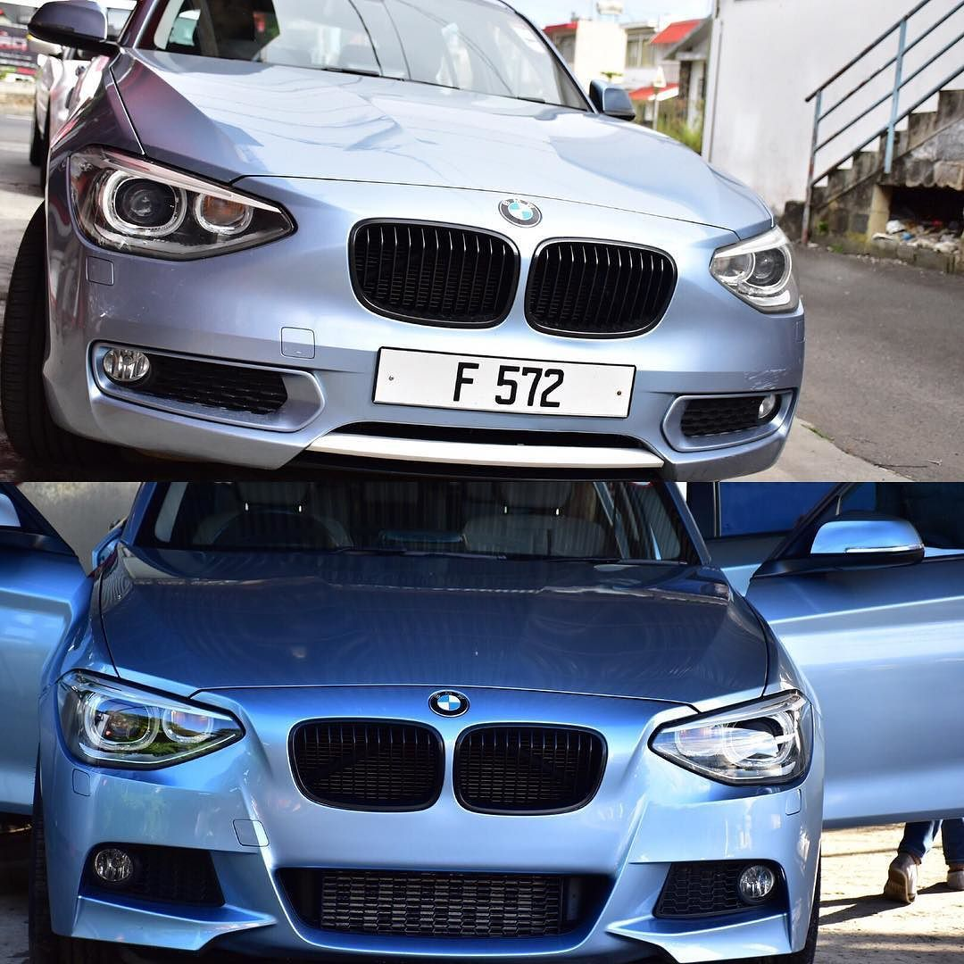 Bmw F20 fitted with Mtech bumpers. Before/after(画像あり)