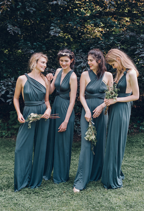 Multiway Convertible Twist Wrap Jumpsuits From Twobirds Bridesmaid