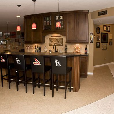 Finished basement ideas on pinterest basement bars basements and n - Basement bar layout ideas ...