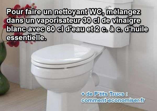 Le Truc Pour Nettoyer les WC avec un Nettoyant Fait Maison