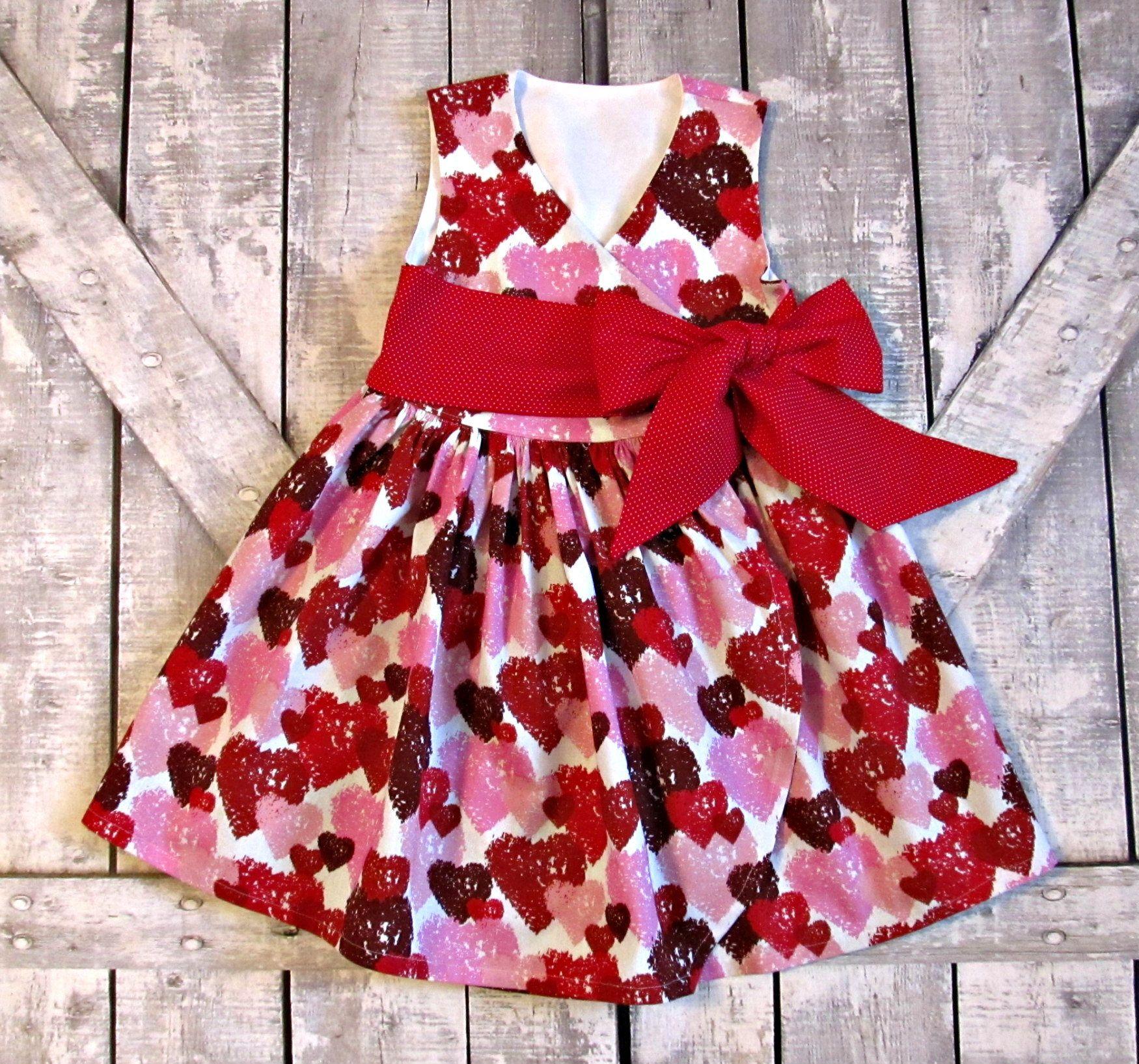 71c4fb755 Girls Valentines Day Dress- Party Dress- Baby Girl Dress- Toddler Dress-  Pink