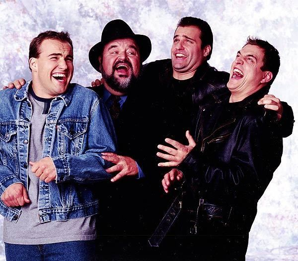 Dom Deluise with his boys, Peter, David and Michael