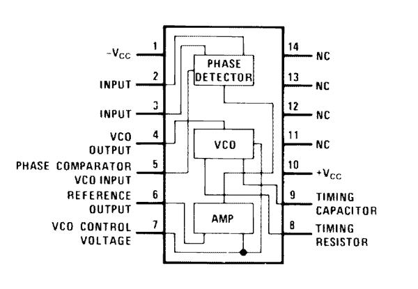 Lm565 Internal Structure Pinout Pll Diagram Technology