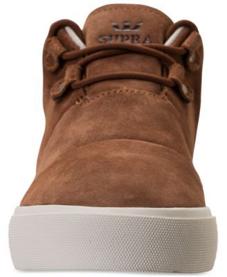 Supra Men's Charles Casual Sneakers from Finish Line - Tan/Beige 9.5
