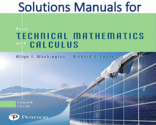 Basic Technical Mathematics With Calculus Solution Manual