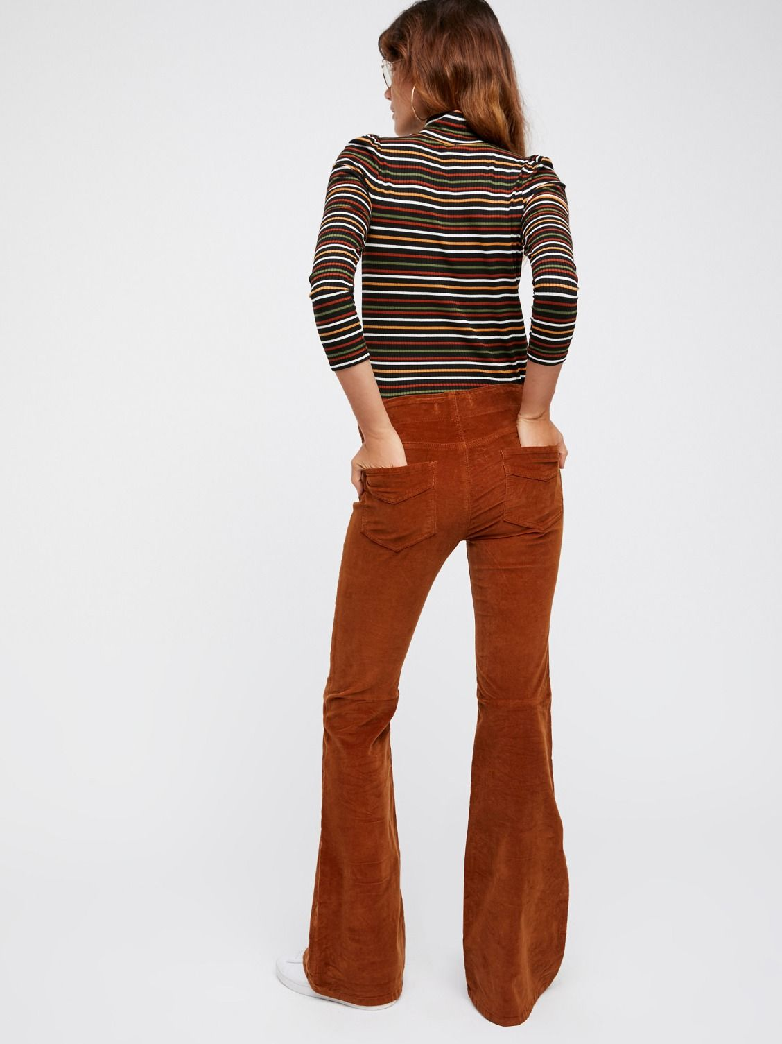 ea24d1dfd97bb9 Pull On Corduroy Flare | New Arrivals | Pants, Corduroy, Fashion outfits