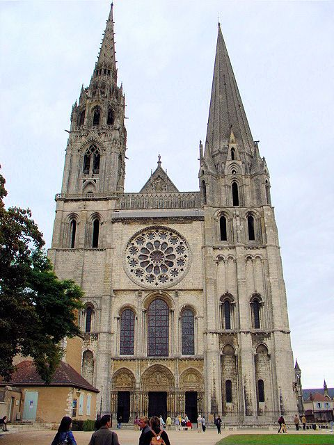 Notre Dame de Chartres is one of Europe's most unusual cathedrals with its two distinct bell towers.