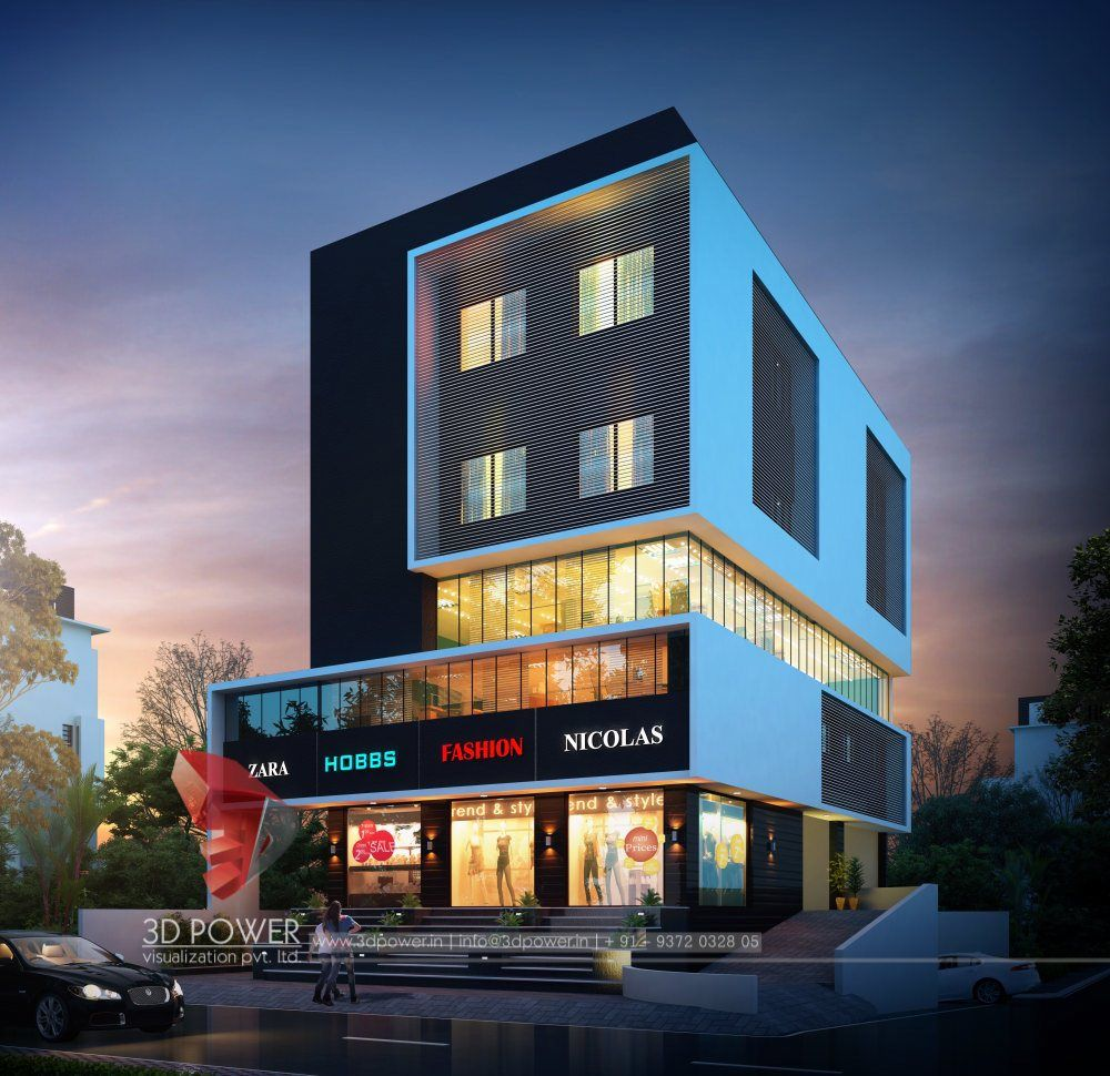 Exterior Rendering Of Commercial Space Commercial Design Exterior Modern Architecture Building Architecture Building Design