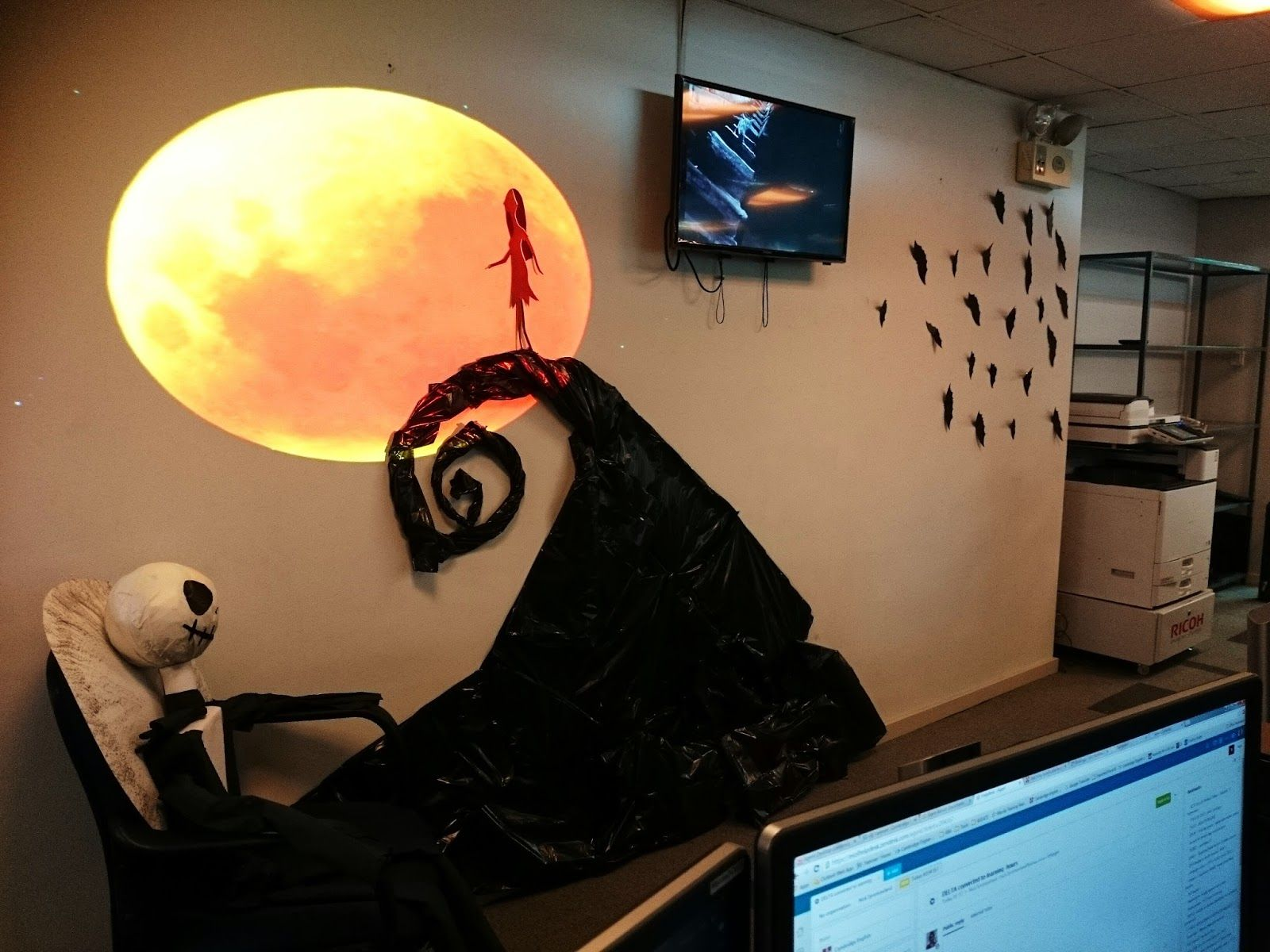 Image result for halloween office theme work decor pinterest