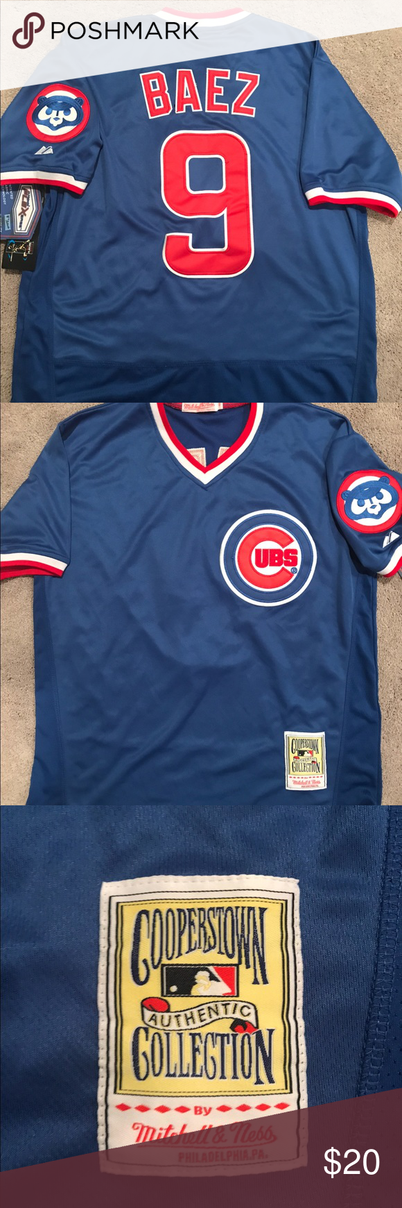 detailed look 77cb8 7d80d Men's Javier Baez Chicago Cubs Throwback Jersey XL Chicago ...
