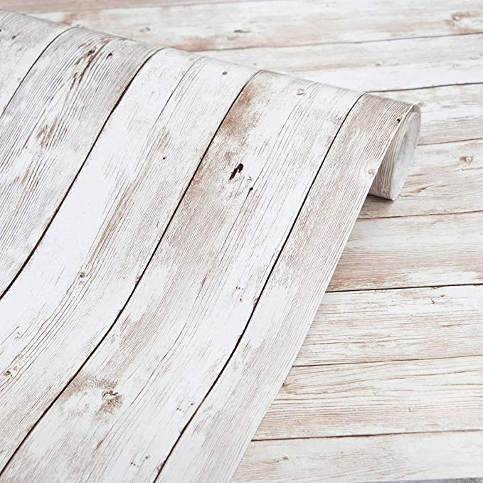 Amazon Com Wood Contact Paper 17 71 X 118 Self Adhesive Removable Wood Peel And Stick Wallpaper Dec Wood Wallpaper White Wood Wallpaper Wood Plank Wallpaper