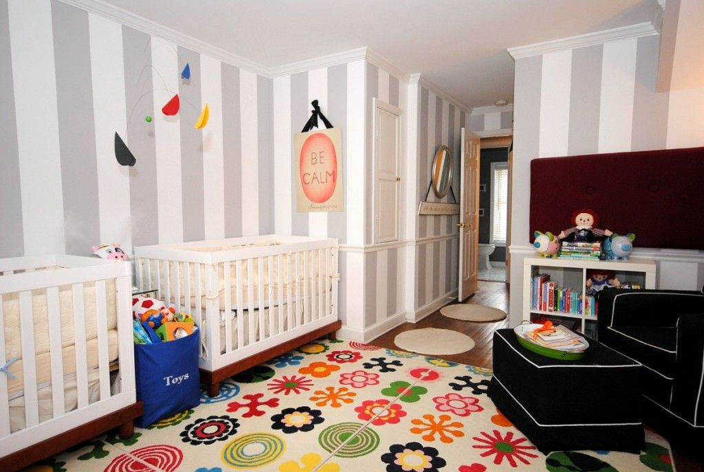 this colorful rug adds instant fun to any nursery or playroom