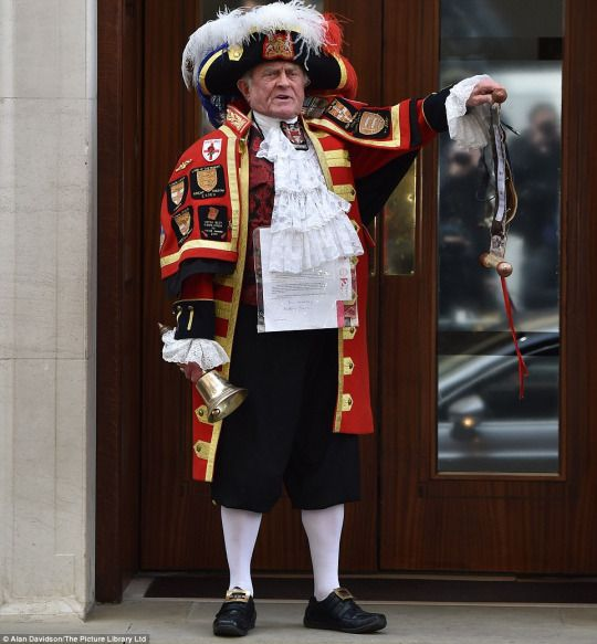 Town crier that announced birth of Kate's little girl.