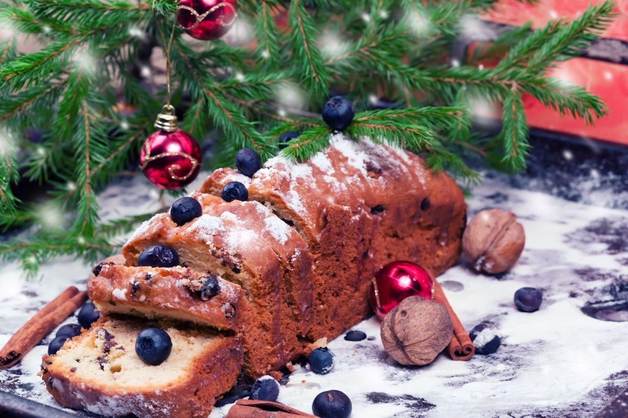 Jour Feries Nouvel An Viennoiserie Cupcake Noix Myrtille Branche Nourriture Nourriture Patisseries Sucrees Myrtille